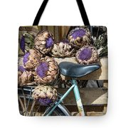 Artichoke Flowers With Bicycle Tote Bag