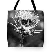 Artichoke Thistle Bw Tote Bag
