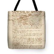 Articles Of Confederation Tote Bag