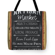 Artisan Market Sign Tote Bag