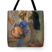 Artist And Model Tote Bag