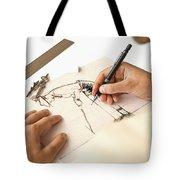 Artist At Work - Michelle Wie Part 1 Tote Bag
