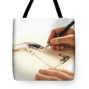 Artist At Work - Michelle Wie Part 3 Tote Bag