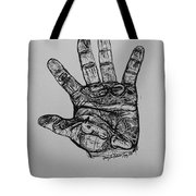 Artist  Hand Variation I Tote Bag