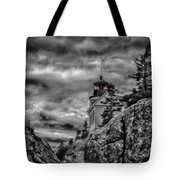 Artistic Bass Harbor Lighthouse In Acadia Tote Bag