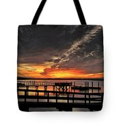 Artistic Black Sunset Tote Bag