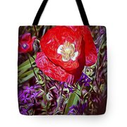 Artistic Kentucky Red Poppy Tote Bag