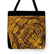 Artistic Led Lights Christmas Decoration At Sol In Madrid, Spain. Tote Bag
