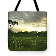 Artistic Lush Marsh Tote Bag