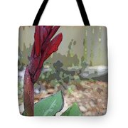 Artistic Red Canna Lily Tote Bag