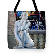 Artistic Statue That Has Gone To The Birds In Barcelona Tote Bag