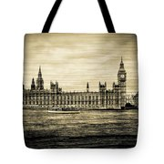 Artistic Vision Of Elizabeth Tower Big Ben And Westminster Tote Bag