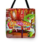 Artistically Textured Carousel Tote Bag