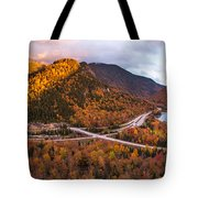 Artists Bluff Sunset Rainbow Tote Bag