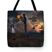 Artists Concept Of A Quest To Find New Tote Bag by Mark Stevenson