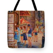 Artists Corner Rue St Jacques Tote Bag