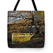 Artist's Covered Bridge Tote Bag