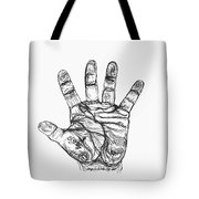 Artists Hand Variation I Tote Bag