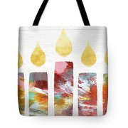 Artists Menorah- Art By Linda Woods Tote Bag
