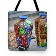 Artwork Large Vase Tote Bag