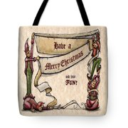 Merry Christmas Elves Tote Bag