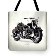 Indian Chief Roadmaster 1953 Tote Bag