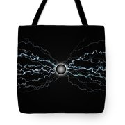 Power Field Black Tote Bag