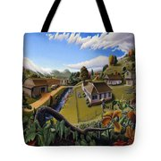 Appalachia Summer Farming Landscape - Appalachian Country Farm Life Scene - Rural Americana Tote Bag