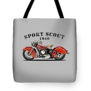 Indian Sport Scout 1940 Tote Bag