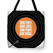 Music Quotes Typography Print Poster Tote Bag by Lab No 4 - The Quotography Department