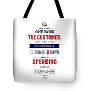Sam Walton Quotes Poster Tote Bag