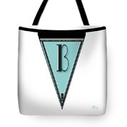 Pennant Deco Blues Banner Initial Letter B Tote Bag