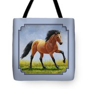 Buckskin Horse - Morning Run Tote Bag by Crista Forest
