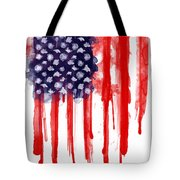 American Spatter Flag Tote Bag by Nicklas Gustafsson