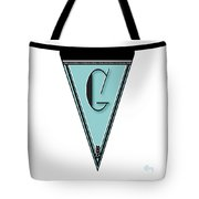 Pennant Deco Blues Banner Initial Letter G Tote Bag
