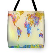 Abstract Earth Map 2 Tote Bag