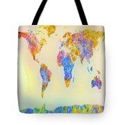 Abstract Earth Map 2 Tote Bag by Bob Orsillo