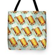Beer Pattern Tote Bag