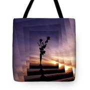 Red Roses At Sunset Tote Bag