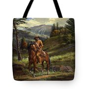 Jim Bridger - Mountain Man - Frontiersman - Trapper - Wyoming Landscape Tote Bag