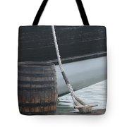 Barrel And Ship Tote Bag