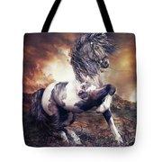 Apache War Horse Tote Bag