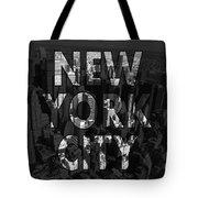 New York City - Black Tote Bag