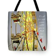 Wheel Of Fortune With Phrase Tote Bag