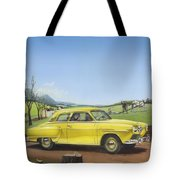 Studebaker Champion Antique Americana Nostagic Rustic Rural Farm Country Auto Car Painting Tote Bag