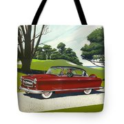 1953 Nash Rambler Car Americana Rustic Rural Country Auto Antique Painting Red Golf Tote Bag