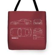 Ferrari 550 Blueprint - Red Tote Bag