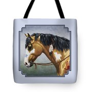 Buckskin Native American War Horse Tote Bag by Crista Forest