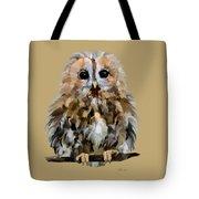 Young Tawny Owl Tote Bag