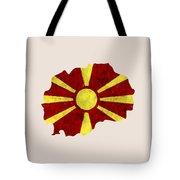 Macedonia Map Art With Flag Design Tote Bag